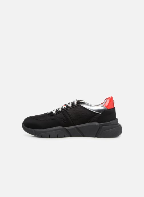 Trainers Love Moschino Patch Heart Running Black front view