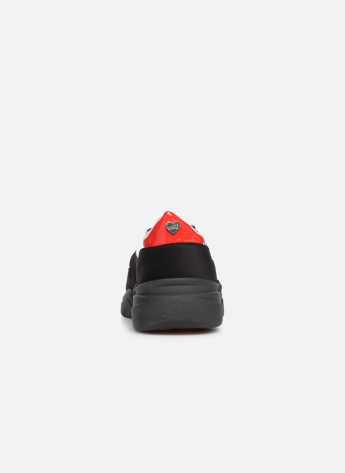 Trainers Love Moschino Patch Heart Running Black view from the right