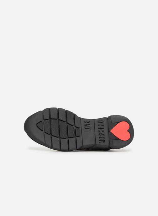 Baskets Love Moschino Patch Heart Running Noir vue haut