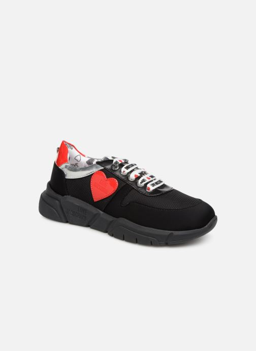 Trainers Love Moschino Patch Heart Running Black detailed view/ Pair view