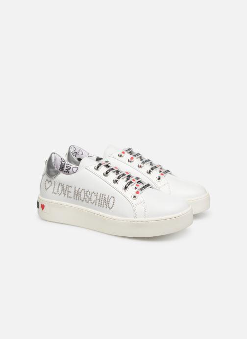 Baskets Love Moschino Studs Sneaker Blanc vue 3/4