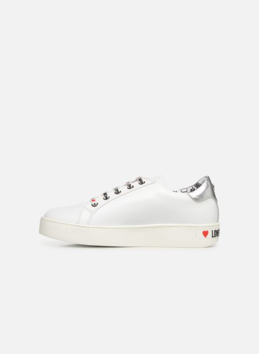 Baskets Love Moschino Studs Sneaker Blanc vue face