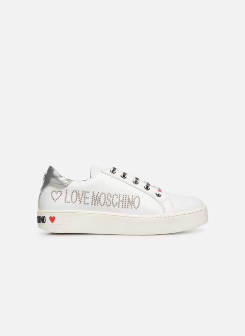 Baskets Love Moschino Studs Sneaker Blanc vue derrière