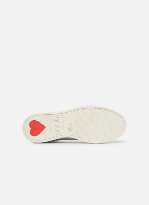 Baskets Love Moschino Studs Sneaker Blanc vue haut