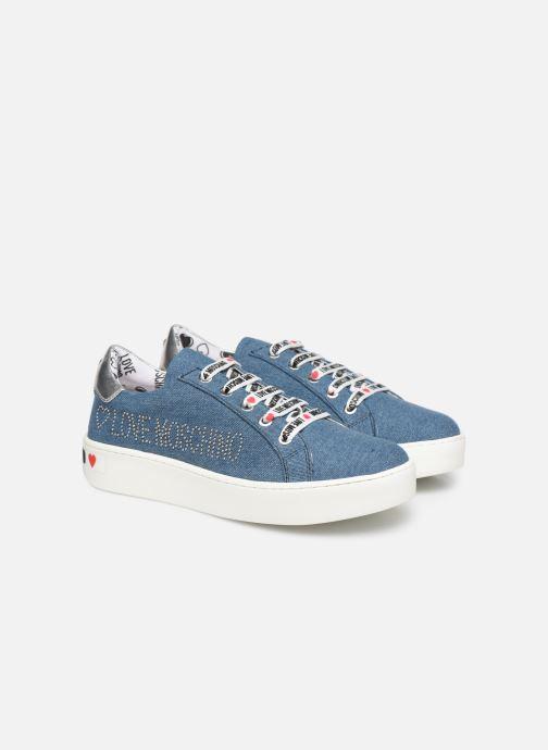 Baskets Love Moschino Studs Sneaker Bleu vue 3/4