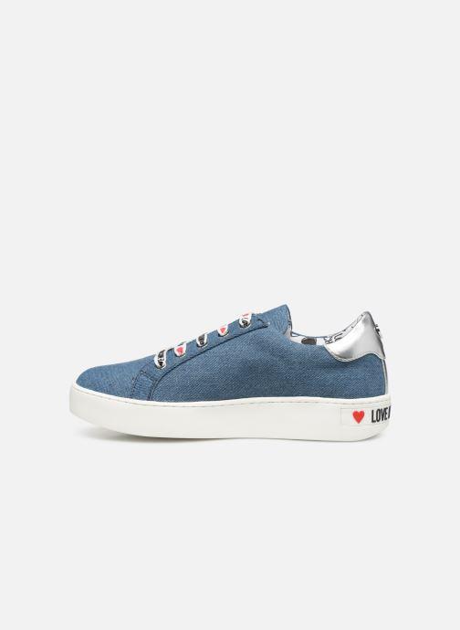 Baskets Love Moschino Studs Sneaker Bleu vue face