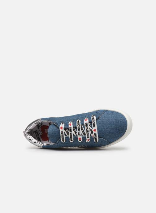 Baskets Love Moschino Studs Sneaker Bleu vue gauche