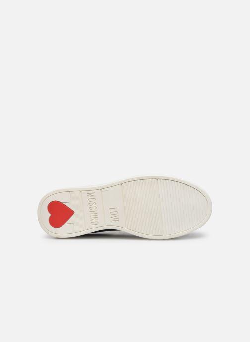 Baskets Love Moschino Studs Sneaker Bleu vue haut
