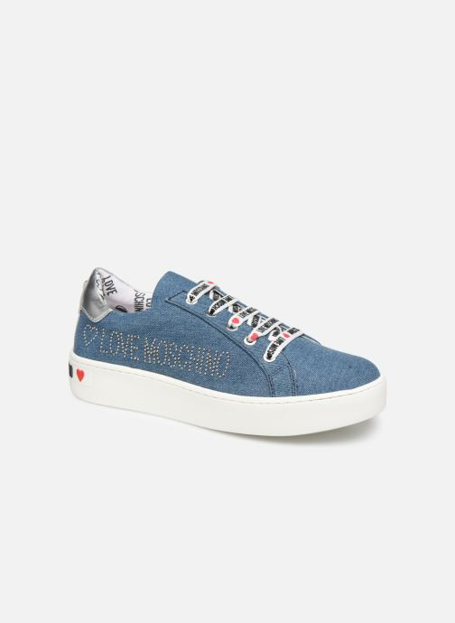 Trainers Love Moschino Studs Sneaker Blue detailed view/ Pair view