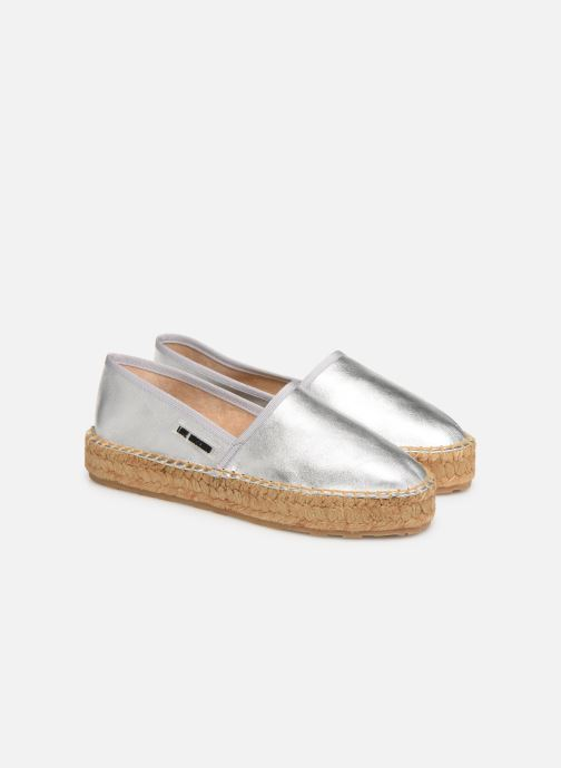 Espadrilles Love Moschino Rope Label Espadrille Silver 3/4 view