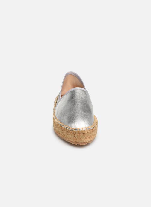 Espadrilles Love Moschino Rope Label Espadrille Argent vue portées chaussures