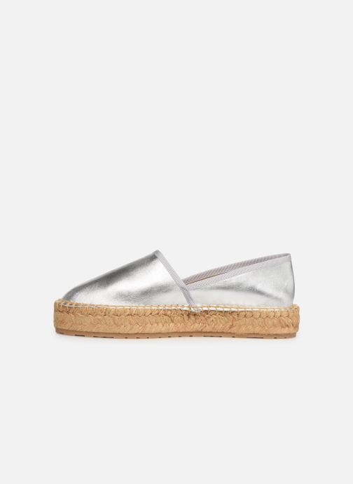 Espadrilles Love Moschino Rope Label Espadrille Argent vue face