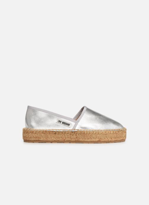 Espadrilles Love Moschino Rope Label Espadrille Silver back view