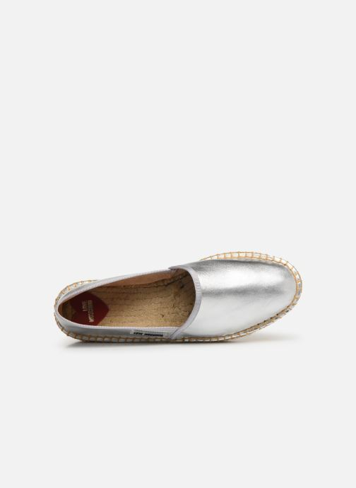 Espadrilles Love Moschino Rope Label Espadrille Silver view from the left