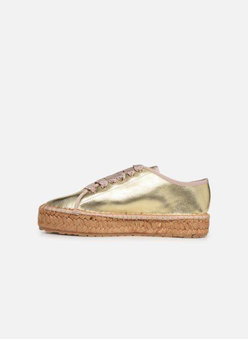 Espadrilles Love Moschino Rope Label Lace Up Bronze and Gold front view