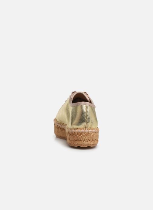 Espadrilles Love Moschino Rope Label Lace Up Bronze and Gold view from the right