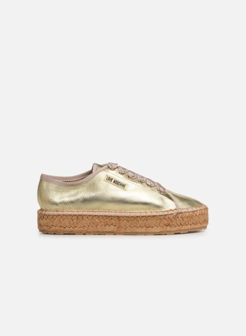 Espadrilles Love Moschino Rope Label Lace Up Bronze and Gold back view
