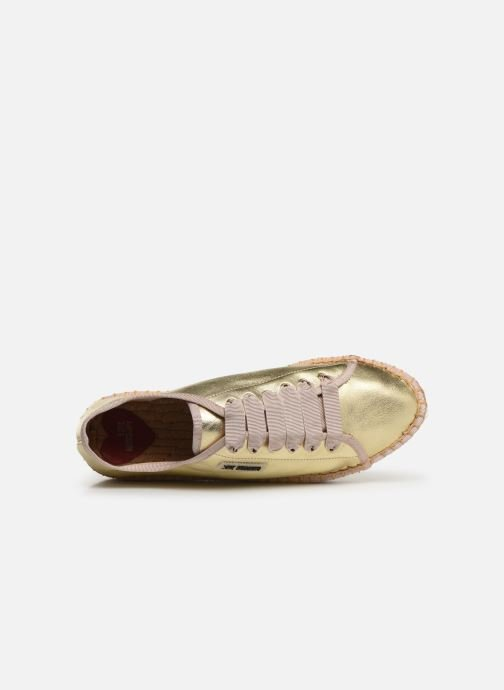 Espadrilles Love Moschino Rope Label Lace Up Or et bronze vue gauche