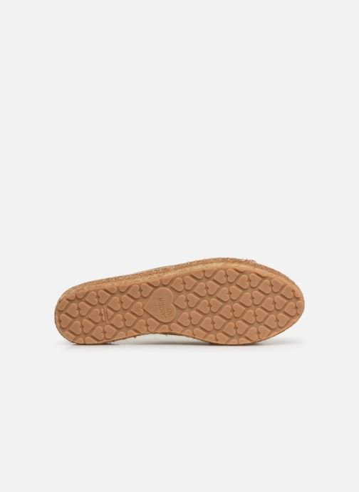 Espadrilles Love Moschino Rope Label Lace Up Bronze and Gold view from above