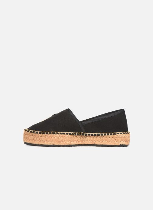 Espadrilles Love Moschino Rope Multi Hearts Espadrille Black front view