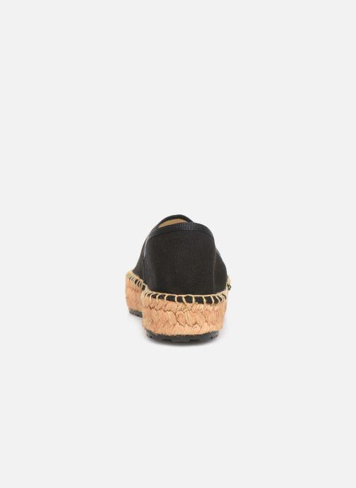 Alpargatas Love Moschino Rope Multi Hearts Espadrille Negro vista lateral derecha