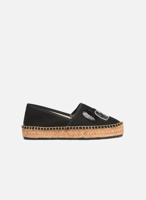 Espadrilles Love Moschino Rope Multi Hearts Espadrille Black back view