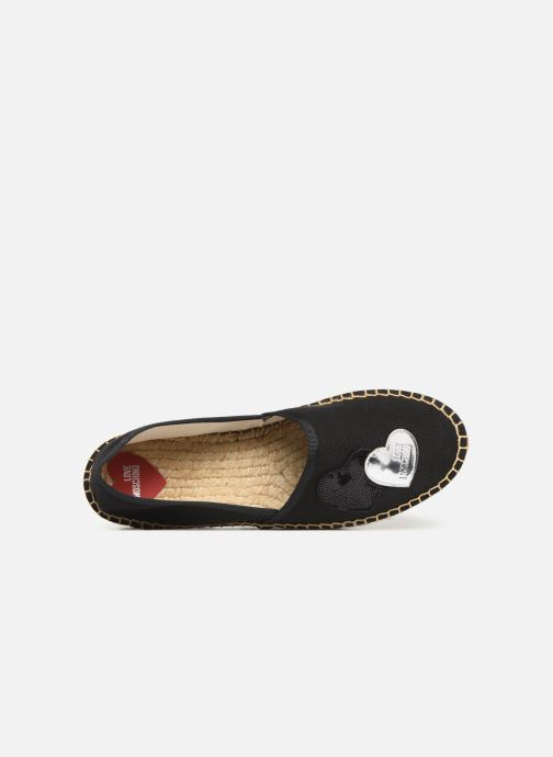 Espadrilles Love Moschino Rope Multi Hearts Espadrille Black view from the left