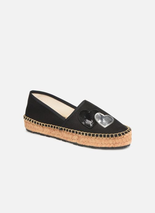 Espadrilles Love Moschino Rope Multi Hearts Espadrille Black detailed view/ Pair view