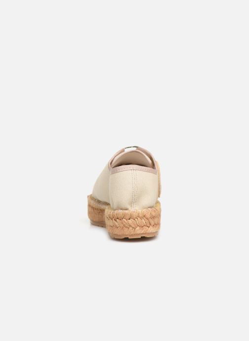 Espadrilles Love Moschino Rope Multi Hearts Lace Up Beige vue droite