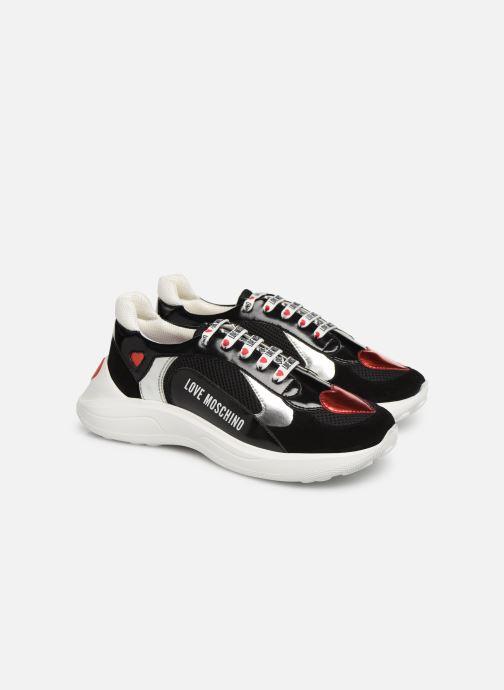 Sneakers Love Moschino New Running Heart Zwart 3/4'
