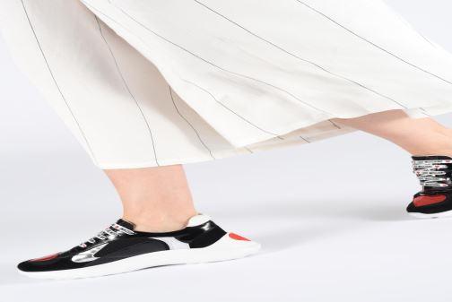 Sneakers Love Moschino New Running Heart Zwart onder