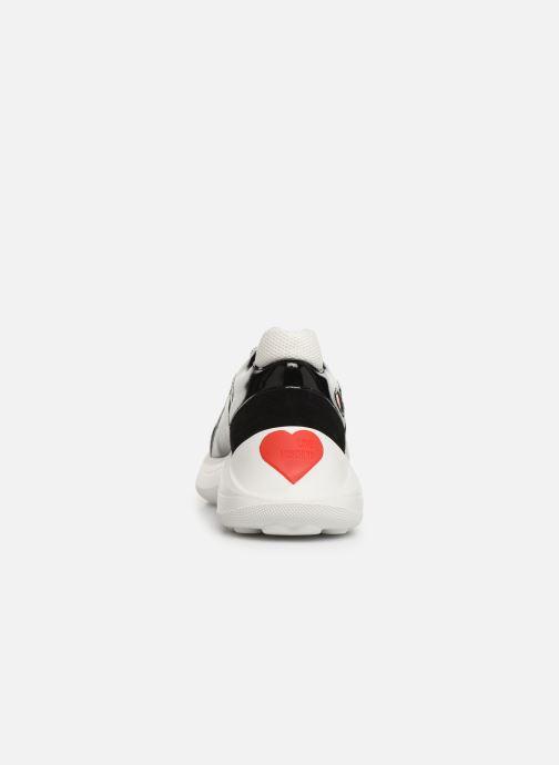 Deportivas Love Moschino New Running Heart Negro vista lateral derecha