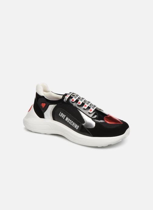 Baskets Love Moschino New Running Heart Noir vue détail/paire