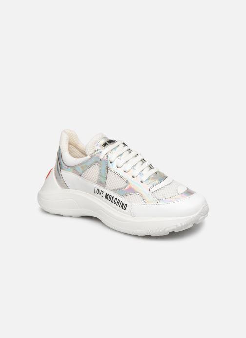 Baskets Love Moschino New Running Blanc vue détail/paire