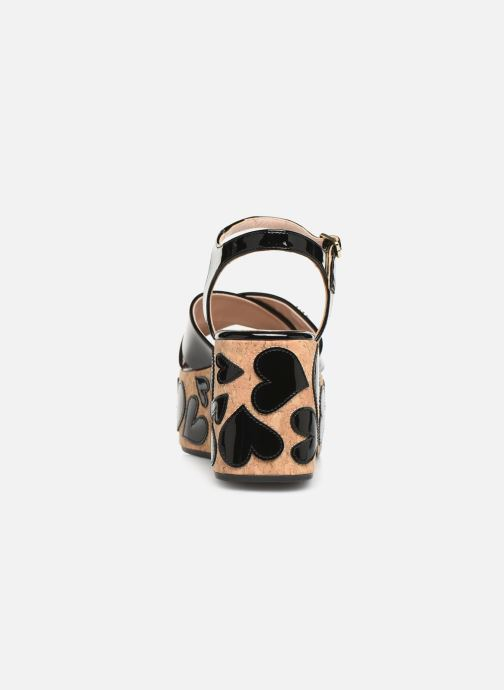 Sandals Love Moschino Heart Patchwork Sandal Black view from the right
