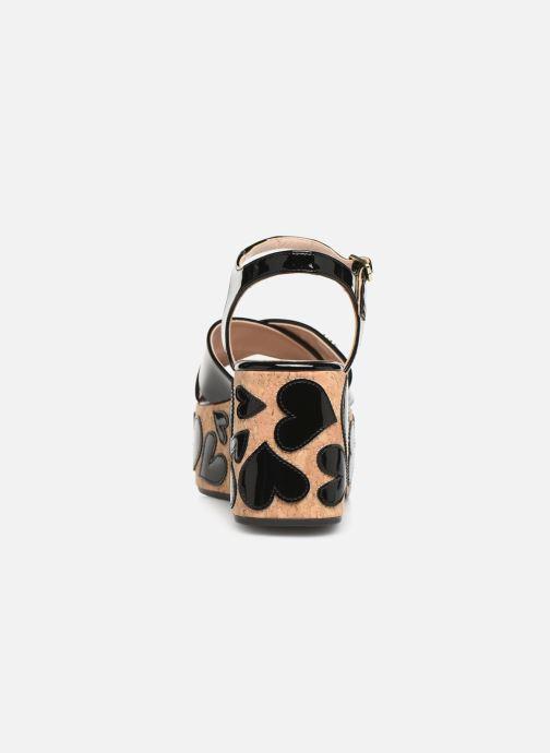 Sandalen Love Moschino Heart Patchwork Sandal Zwart rechts