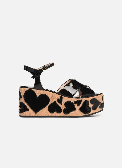 Sandals Love Moschino Heart Patchwork Sandal Black back view