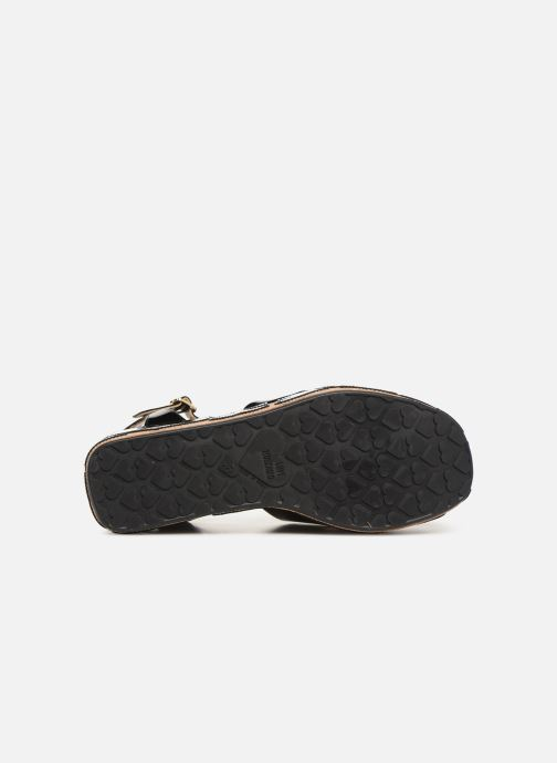 Sandals Love Moschino Heart Patchwork Sandal Black view from above