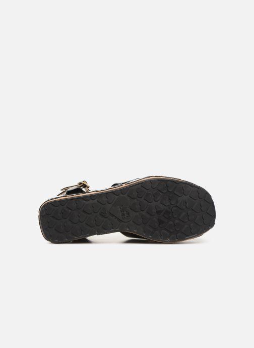 Sandalen Love Moschino Heart Patchwork Sandal Zwart boven