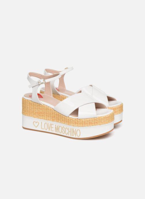 Sandales et nu-pieds Love Moschino Feminine Studs Sandal Blanc vue 3/4