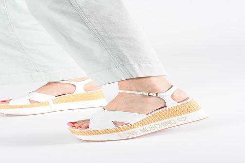 Moschino Sandal Sandalen weiß Studs 358091 Feminine Love Axqa8wtdA