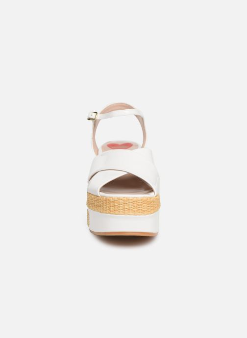 Sandals Love Moschino Feminine Studs Sandal White model view