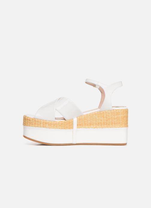 Sandals Love Moschino Feminine Studs Sandal White front view