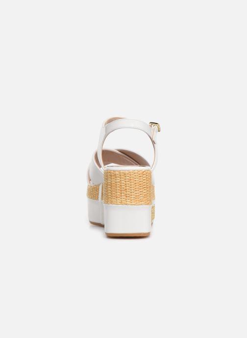 Sandales et nu-pieds Love Moschino Feminine Studs Sandal Blanc vue droite