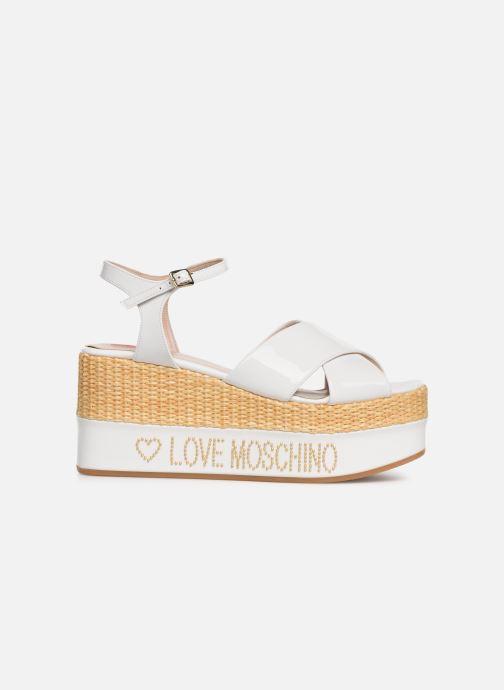 Sandals Love Moschino Feminine Studs Sandal White back view