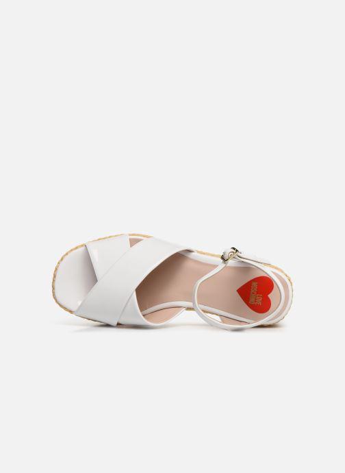 Sandales et nu-pieds Love Moschino Feminine Studs Sandal Blanc vue gauche