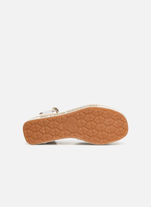 Sandals Love Moschino Feminine Studs Sandal White view from above
