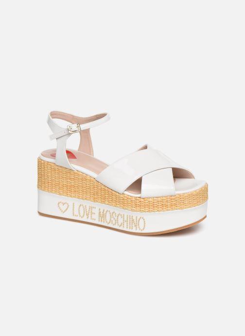Sandals Love Moschino Feminine Studs Sandal White detailed view/ Pair view