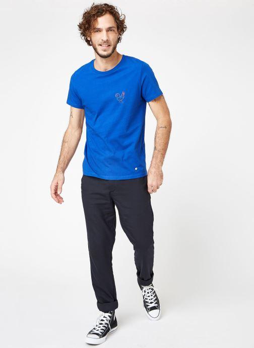 Vêtements Faguo ARCY T-SHIRT COTTON Bleu vue bas / vue portée sac