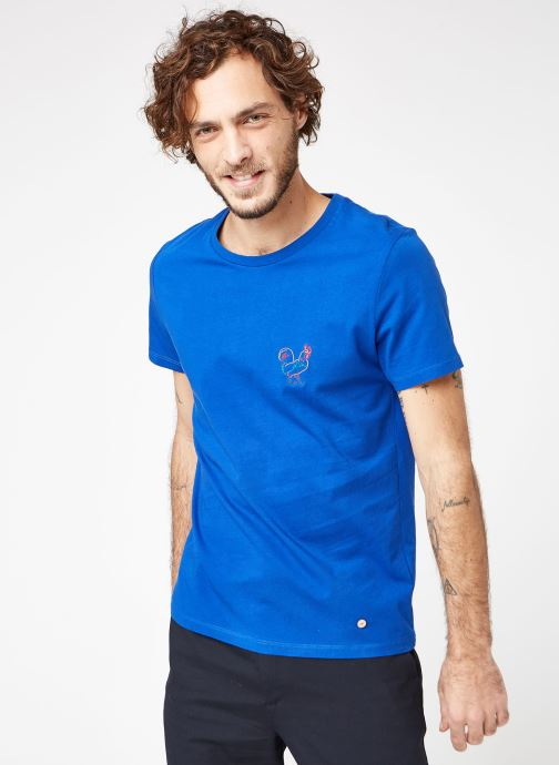 Vêtements Faguo ARCY T-SHIRT COTTON Bleu vue droite